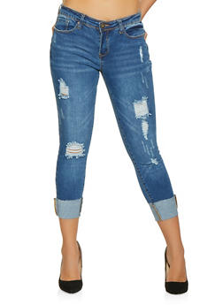 WAX Destruction Push Up Jeans - 1074071610121