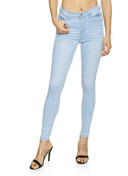 WAX Whisker Wash High Rise Jeans - 1074071610123
