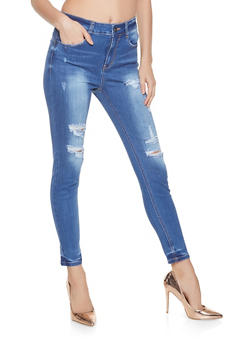 WAX Distressed Push Up Jeans - 1074071610133