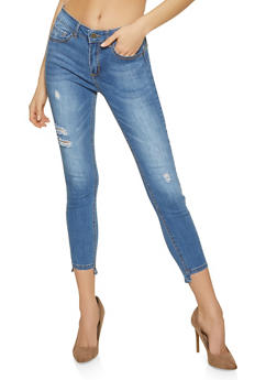 WAX Step Hem Push Up Jeans - 1074071610138