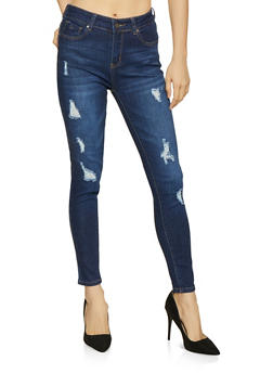 WAX Distressed Skinny Jeans - 1074071610146