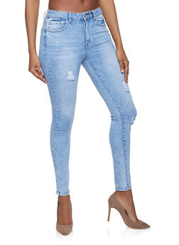 WAX Distressed Jeans - LIGHT WASH - 1074071610150