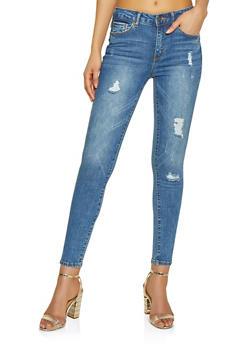WAX Distressed Jeans - MEDIUM WASH - 1074071610150