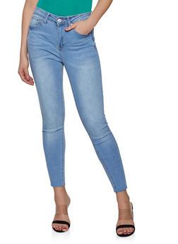 b3f25f12b WAX Raw Hem Skinny Jeans - 1074071610158