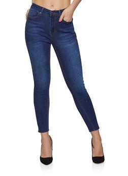 WAX Raw Hem Skinny Jeans - 1074071610158