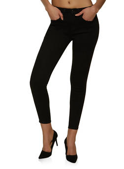 WAX One Button Push Up Skinny Jeans - 1074071610165