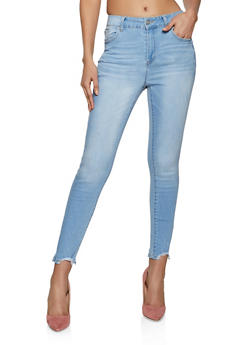 WAX Frayed High Waisted Jeans - 1074071610180