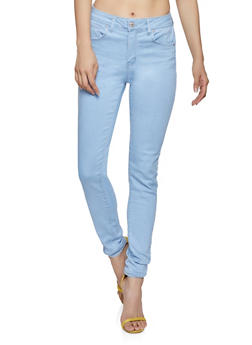 WAX Solid Push Up Skinny Jeans - 1074071610210
