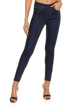 WAX Solid Push Up Skinny Jeans - DARK WASH - 1074071610210