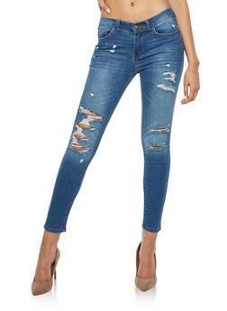 WAX Distressed Push Up Skinny Jeans - 1074071610993