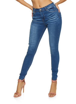 WAX Stretch High Waisted Skinny Jeans - 1074071611239