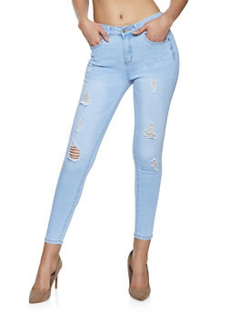 WAX Distressed Skinny Jeans - 1074071611460