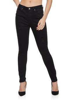 WAX Basic Distressed Skinny Jeans - 1074071611590