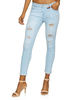 WAX Fixed Cuff Push Up Jeans - 1074071613302