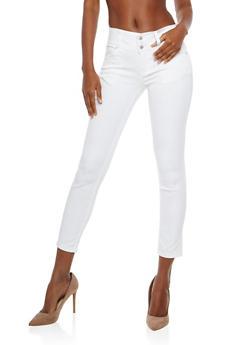 WAX Triple Button Push Up Jeans - 1074071613501