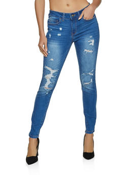 WAX Whiskered Push Up Jeans - 1074071613900