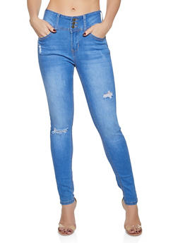 WAX Push Up Ripped Skinny Jeans - 1074071615690