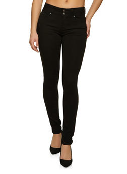 WAX Two Button Skinny Jeans - 1074071618844