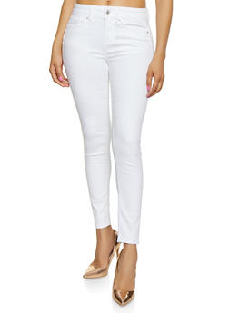 WAX Cropped Push Up Skinny Jeans - 1074071619050