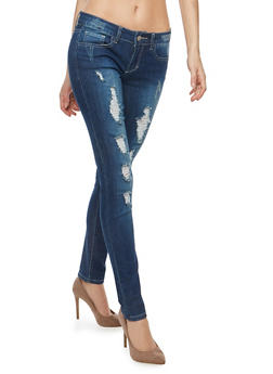 WAX Destroyed Skinny Jeans - 1074071619220