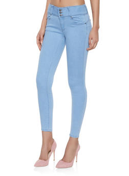 WAX High Waist Push Up Skinny Jeans - 1074071619340
