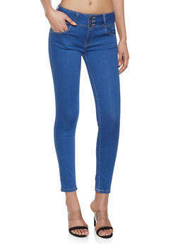 WAX High Waist Push Up Skinny Jeans - MEDIUM WASH - 1074071619340