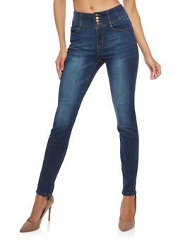 WAX High Waisted Push Up Skinny Jeans - 1074071619361