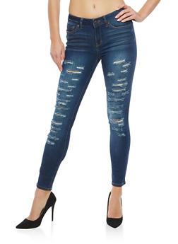 WAX Destruction Skinny Jeans - 1074071619771