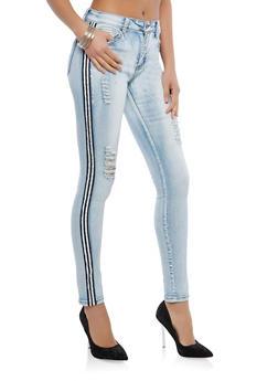 Side Stripe Skinny Jeans - 1074072290003
