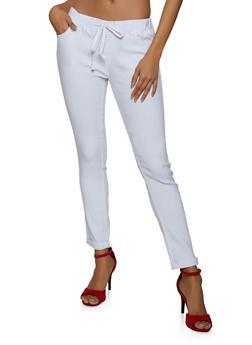 Roll Cuff Stretch Pants - 1074072294522