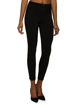 High Waisted Skinny Stretch Pants - 1074072296411