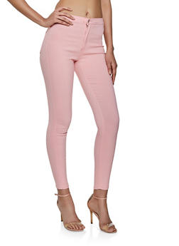 High Rise Stretch Pants - 1074072298411