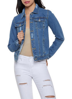 Distressed Jean Jacket | 1075051060923 - 1075051060923