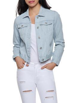 Striped Jean Jacket - 1075051060926
