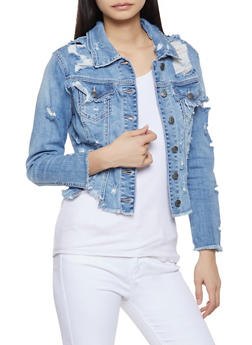 Cello Frayed Denim Jacket - 1075063150045