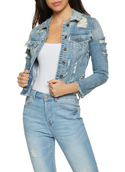Cello Distressed Jean Jacket - 1075063150145