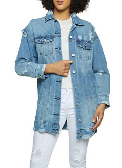Highway Long Jean Jacket - 1075071310497