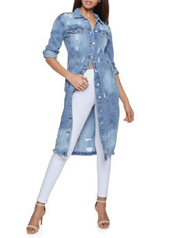 Highway Long Denim Jacket - 1075071315611