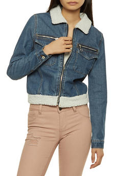 Highway Sherpa Trim Jean Jacket - 1075071317105