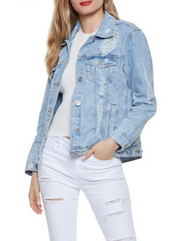 Highway Destroyed Denim Jacket - 1075071317961