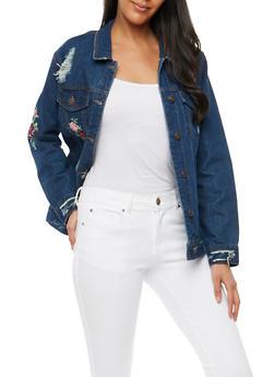 WAX Embroidered Denim Jacket - 1075071610106