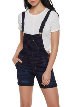 VIP Denim Shortalls | Dark Wash - 1076065308391