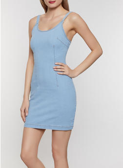 Highway Denim Bodycon Dress - 1076071316317