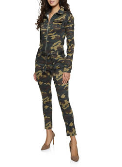 Belted Camo Jumpsuit - 1078065300101