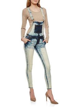 VIP Skinny Leg Denim Overalls - 1078065300496