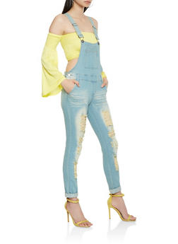 VIP Destroyed Denim Overalls - 1078065300596