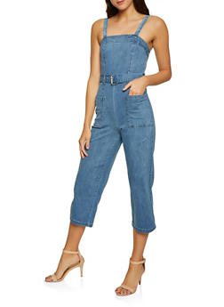 Denim Women Spandex Jumpsuits