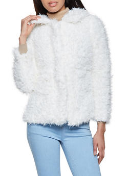 Two Pocket Collared Sherpa Jacket - 1084054260570
