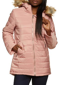 Hooded Puffer Coat - 1084054265680