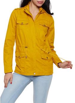 Drawstring Waist Hooded Anorak Jacket - 1086051061090